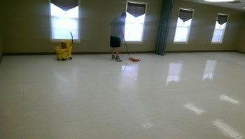 Floor Stripping and Waxing by Cleaning Force Inc